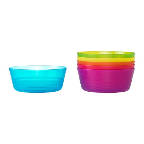 Ikea Kalas 301.929.60 BPA-Free Bowl, Assorted Colors, Set of 2, by Ikea