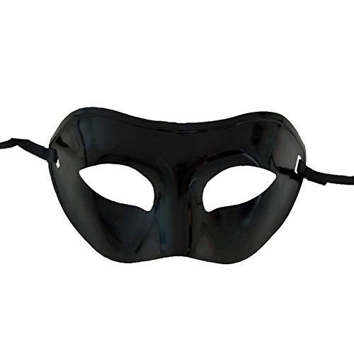Ndier Maske kostüm Erwachsene Maskerade einfache Art venezianischer Partei Multi Usage Karneval Prop Maske für Männer und Frauen schwarze Maske Maske Kleidung (Einfache Venezianische Kostüm)