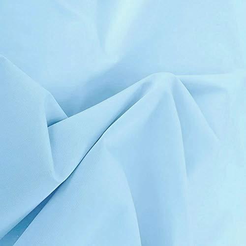 TOLKO Baumwollstoff Meterware - OEKO-TEX® Baumwoll-Qualität, Leichter Klassiker zum Nähen für Kinder (Hell-Blau)