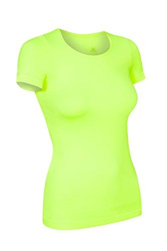 Assoluta Damen T-Shirt kurzarm, Größe S, neon gelb