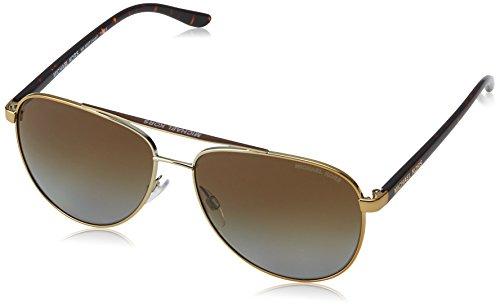 Michael Kors Damen HVAR 1044T5 59 Sonnenbrille, Gold Tortoise/Browngradientpolarized,