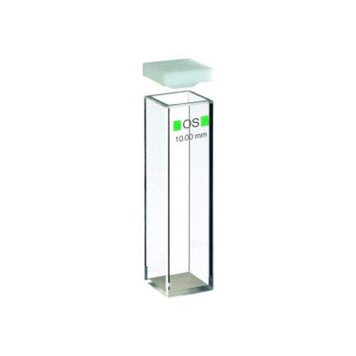 Hellma 101-10-20 Makro-Küvette mit Deckel, 101-OS, 10 mm x 10 mm Schichtdicke, 3500 µL Volumen, Fluoreszenz (1-er Pack)