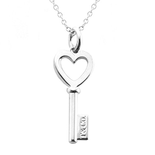 [Tiffany] Tiffany Sterling Silber T CO. Herz Schlüssel Anhänger Schlüssel Motiv Halskette 41cm [Parallel Import Goods] 35483853 (Tiffany Halskette T)