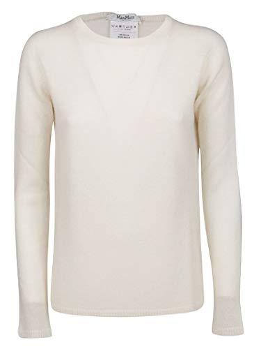 2631077ba13834 Max Mara 13661199600001 Pull en Laine pour Femme Blanc - Blanc - Taille de  la Marque