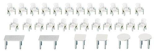 Preisvergleich Produktbild FALLER 272441 - Gartenstühle und Tische