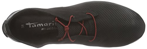 Tamaris - 25222, Scarpe stringate Donna Nero (Nero (Black 001))