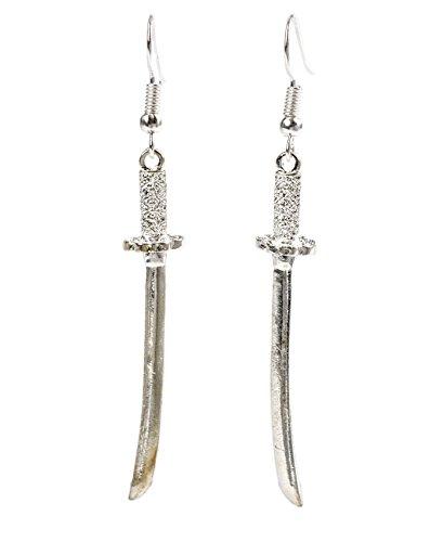 Geralin Gioielli Damen Ohrring Silber Samurai Schwert Ohrhänger -