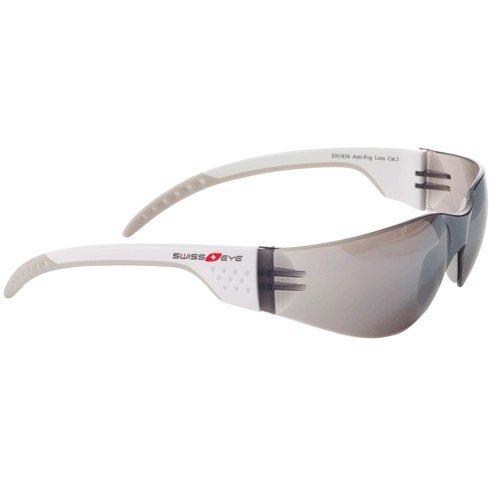 Sportbrille von Swisseye, Outbreak Luzzone S, white/grey mit Scheiben in smoke FM