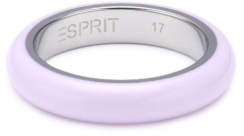 ESPRIT Ring, JW51078,weiß/silberfarben, 57 (18.1)/UK: P