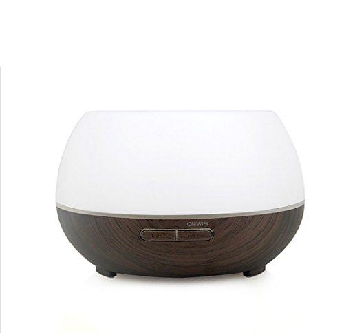 YN Diffusore di Aromi, 300ML WiFi Intelligent Aroma Machine Subhousehold Wood Grain Voice Phone Control App Umidificatore per Bellezza, Spa, Yoga (Colore : Nero)