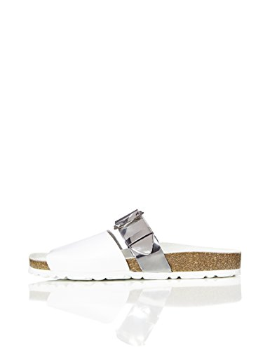 FIND Zuri, Sandali Platform Donna Multicolore (White)