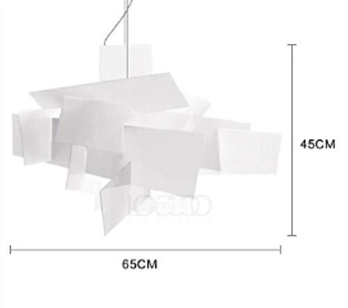5151BuyWorld Lamp Éclairage Suspendu Pour Restaurants Bar Feuille Acrylique Nordic Postmodern Big Bang Stacking Lampes Suspendues Moderne Cordon Pendant Light Qualité Supérieure {65cm Blanc}