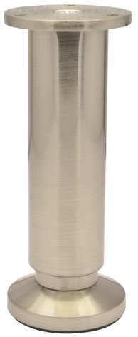 WAGNER Möbelbein / Möbelfuß - DESIGN - Edelstahl-Optik, nickel matt, höhenverstellbar 150-168 mm / Durchmesser 38/60 mm - 12038001