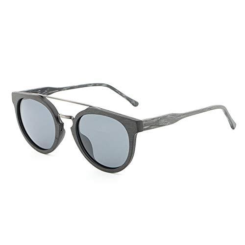 Holz Hand Machen Korn Polarisierte Sonnenbrille Vintage Platte Sonnenbrille Männer Und Frauen Vintage HD Womens Freizeit Klassische Sonnenbrille Brille (Color : C82)