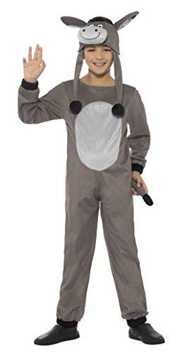 Smiffys Kinder Unisex Esel Kostüm, Jumpsuit und Hut, Alter: 7-9 Jahre, ()