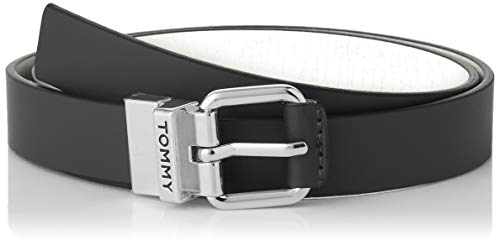 Tommy Hilfiger Damen Square Dress Reversible Belt 2.5 Gürtel, Schwarz (Black/Silver 902), 90