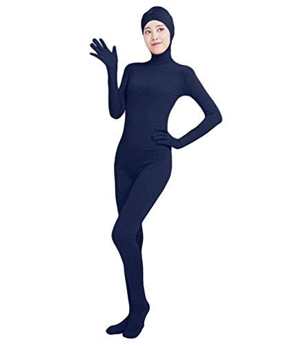 NiSeng Erwachsener und Kind Ganzkörperanzug Breathable Catsuit Face Offene Anzug Suit Kostüm Marine XL (Skin-suit Halloween-kostüme)