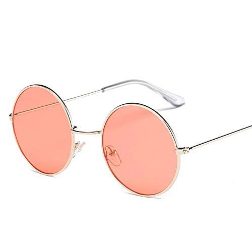 Sonnenbrille Runde Sonnenbrille Frauen Ocean Color Lens Mirror Sonnenbrille Female Metal Frame Circle Brille Uv400