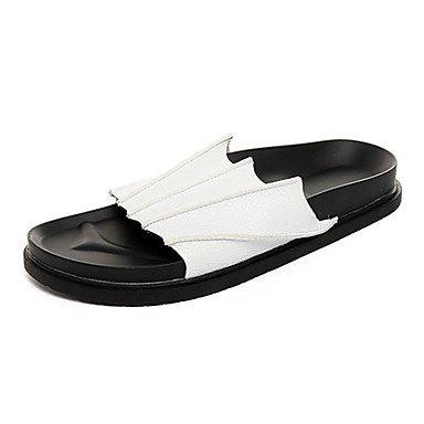 Sandali con tacco Slippers & Estate Comfort PU esterna piani degli uomini sandali US8 / EU40 / UK7 / CN41