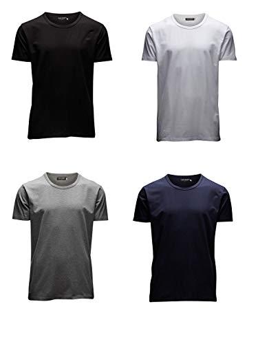 JACK & JONES Herren T-Shirt Basic 4er PACK O-Neck V-Neck Tee S M L XL XXL (L, 4er O-NECK Mix) -