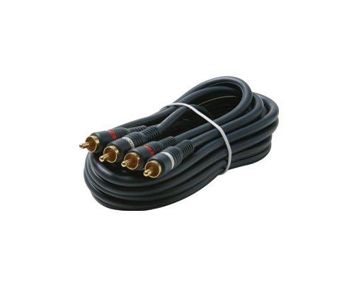 STEREN Python Home Theater Audio Kabel–2x Cinch Stecker–2x Cinch Stecker–25ft–Blau Cinch-kabel 25ft