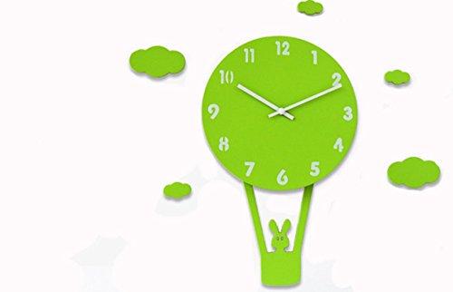 Orologio da parete Ysayc personalità semplice orologio da parete in legno creativa Infanzia attaccatura del (Grande Galleggiante Termometro)