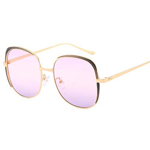 Z&HA Sonnenbrillen für Frauen überdimensionierte Stilgraditionslenses UV400 Schutz-quadratische Brille für das Fahren,PinkGray
