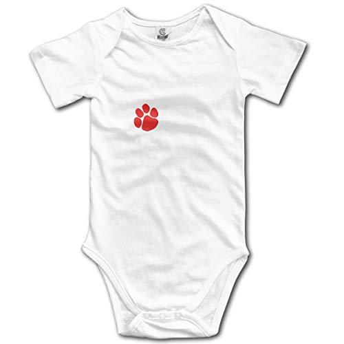 U are Friends Katze Hund Pfote Neugeborenen GILR Jungen Kind Baby Strampler Kurzarm Kleinkind Overall(6M,Weiß) Sleeper Pyjamas Pjs