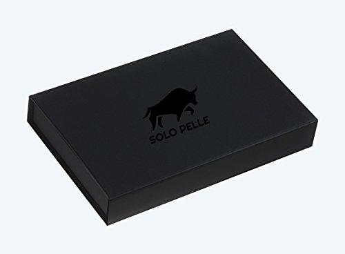 Solo Pelle iPhone 7 Plus / 8 Plus abnehmbare Lederhülle (2in1) inkl. Kartenfächer für das original iPhone 7 Plus / 8 Plus ( Vintage Lila ) inkl. Edler Geschenkverpackung Fullcover-Schwarz