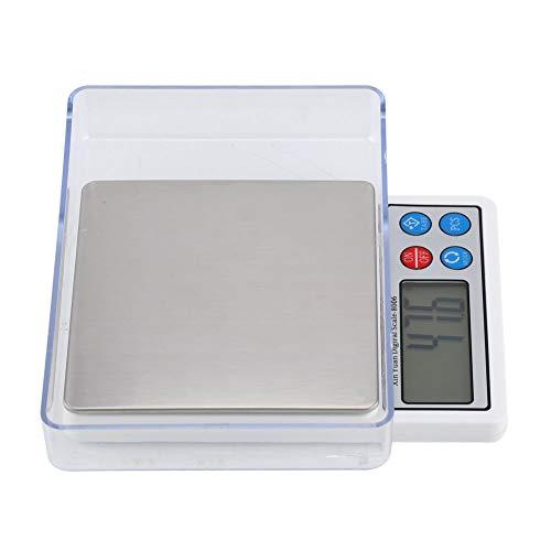 Báscula de Cocina Digital Balanza Electrónica de Bolsillo con Pantalla LCD con Retroiluminación y Escala de Peso Para Alimentos Socialme-eu