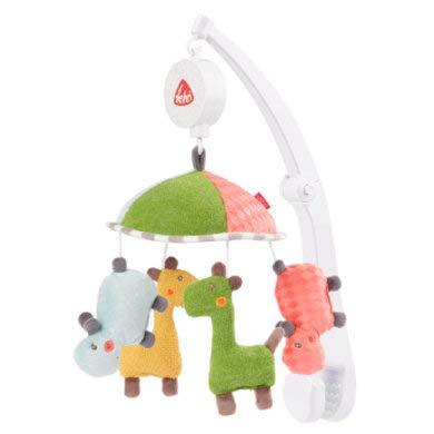 FEHN 059212 Reise-Musik-Mobile Loopy & Lotta / Spieluhr-Mobile zum Mitnehmen - flexible Anbringung an Reisebett & Kinderbett - Für Babys und Kleinkinder von 0-5 Monaten