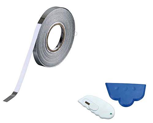30 mm Chromfolien-Klebeband, Auto-Streifen, Coachline mit Cutter