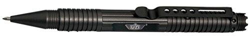 Preisvergleich Produktbild UZI Tactical Pen Kubotan Kugelschreiber aus Flugzeugaluminium mit DNA Catcher oder Glasbreaker Farbe Schwarz oder Gunmetel (Schwarz, DNA Catcher)