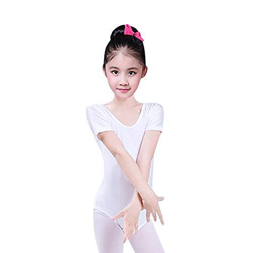 MERICAL Kleinkind Mädchen Baby Trikots Ballett Overall Dancewear Gymnastik Klassische Outfits(Weiß,100)