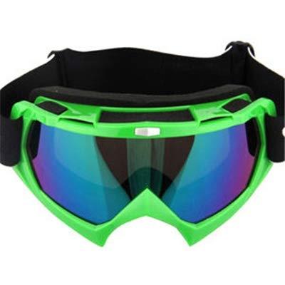 Motorradbrillen Motocross Xinxun Sportbrillen Reitbrillen UV-Nebelschutz Winddicht Schutzbrillen für Outdoor-Ski Motorschlitten Fahrrad Motorrad Reiten im Freien Bequeme Brille (Color : Green)