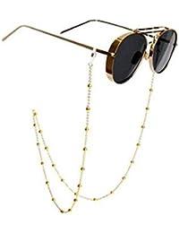 bba437920 Soporte de cadena para gafas, con diseño de cuentas de cristal cadena de  gafas de