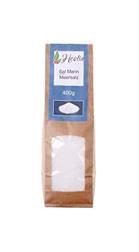 Hestia Sel De l'Atlantique Sel de mer grossier 100% sel de mer naturel provenant du parc naturel de la baie de Cadix en Espagne Grain 1-3mm idée cadeau, 400g