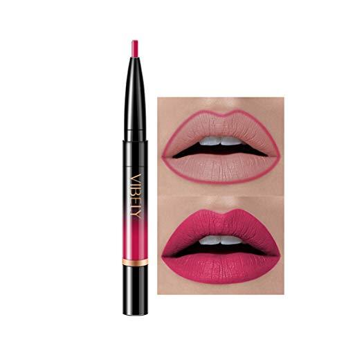 Kltipeng Double-end Lasting Lipliner Waterproof Lip Liner Stick Pencil 16 Color(H)