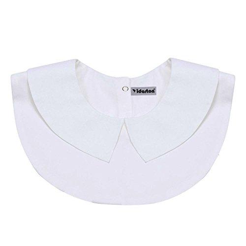 Yidarton Faux Col Chemise Femme Détachable Demi Chemise Blouse aver Bouton (6 styles) style 3 : blanc