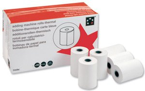 5 Star Office Rolls Imprimante thermique pour 57x40x12.7mm Calculateur d'impression [Pack 20]