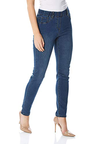 f176842698 Roman Originals Women Denim Thick Premium Jeggings - Ladies Everyday Smart  Comfortable Casual High Rise Pull