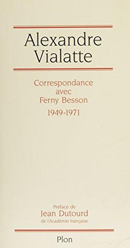 Livres Correspondance avec Ferny Besson (1949-1971) epub, pdf