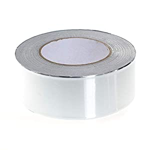TUKA-i-AKUT Cinta adhesiva de aluminio 50mm x 50 metros, cinta aislante, cinta autoadhesiva + 0,1mm de espesor + cinta autoadhesiva, TKD5021