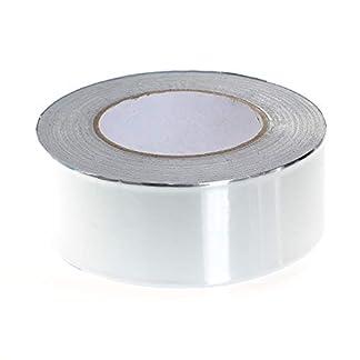 TUKA-i-AKUT Cinta adhesiva de aluminio 50mm x 50 metros, cinta aislante, cinta autoadhesiva, en varias combinaciones, tamaños y tipos.