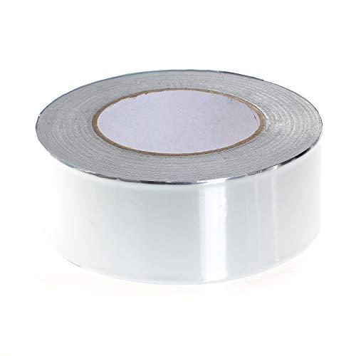 TUKA-i-AKUT Aluminiumband 50mm x 50 Meter, Aluminium Klebeband Rolle Isolierband Abdichtband Selbstklebend, Aluminiumklebebänder + 0,1mm Dicke + Rein-Alu Klebeband TKD5021 (Rolle Aus Aluminium)