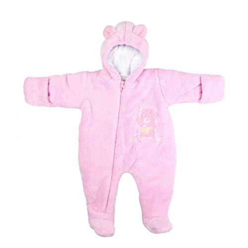 TupTam Unisex Baby Schneeanzug mit Kapuze Fleece-Overall , Farbe: Rosa, Größe: 80