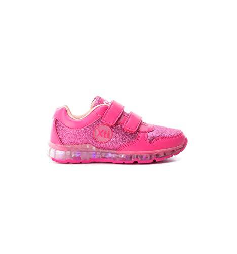 Zapatillas Luces led para niña con Velcro Talla 31 (Calza Justo)