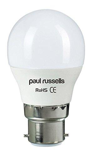 251 Ersatz (Paul Russel 2516Pack 3W Golf LED-Glühlampen B22BC Bajonettsockel Paul Russel Bright 3W = 25W G45Globe Ball klein 270Beam Lampe Day Light (6500K) 25W Glühlampe Ersatz)