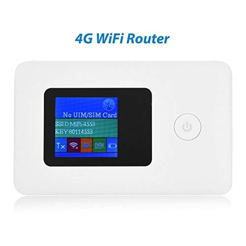 4G Hotspot Router con Slot per Scheda SIM, 4g Router WIFI,Modem Router WIFI portatile,Connessione Wireless a 2,4 GHz, Trasmissione Dati a 150 Mbps, Protocollo Wi-Fi 802.11B / G / N, Funzione modem