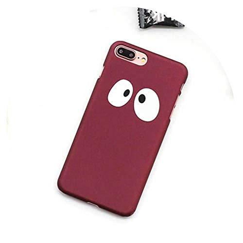 Dessin animé Lovely Panda Eyes Coque de Protection pour iPhone 5 5S Se 6 6S  7 8 Plus X Mat Tactile PC Rigide Sac à Dos de Couverture for iPhone
